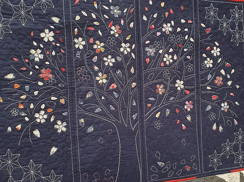 Sashiko panel in 24