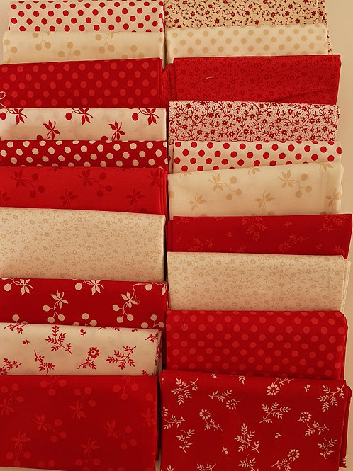 Mystery quilt kit red/cream