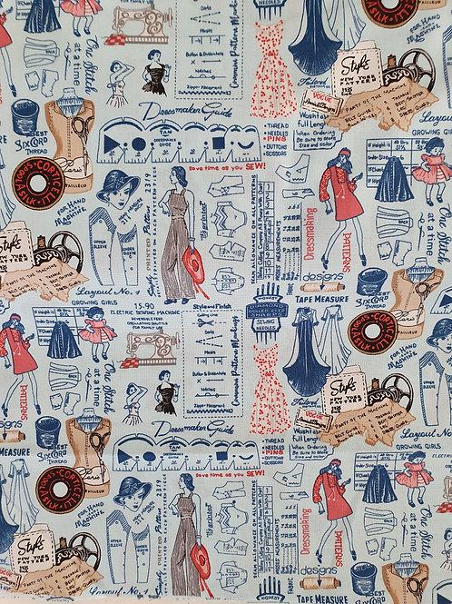 Sew vintage  blue