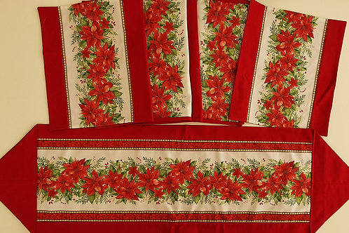 Christmas table runners and place may kits