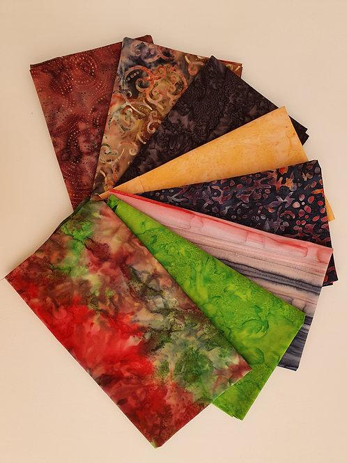 Batik 8 fat quarters