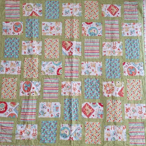 Little friends flannel cot quilt