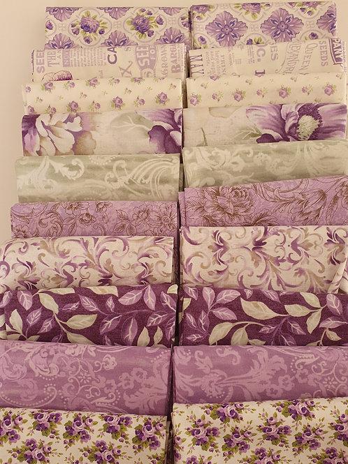 Mystery quilt kit purple