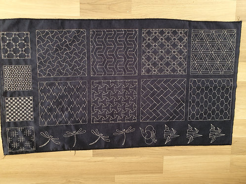 Sashiko panel bbb02