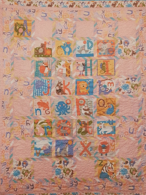 Abc quilt pink