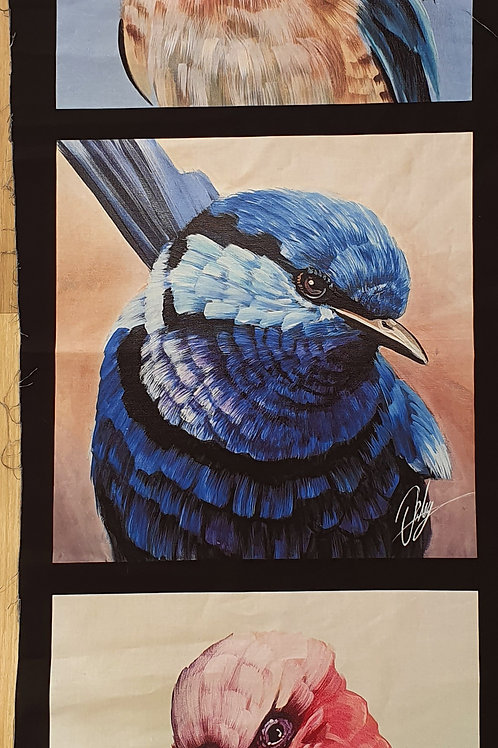 Small panel blue wren and friends