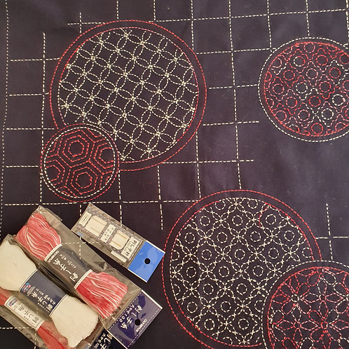 Sashiko panel 15 kit