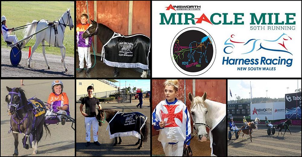 Winners at the Mini Trots Miracle Mile 2019 at Club Menangle