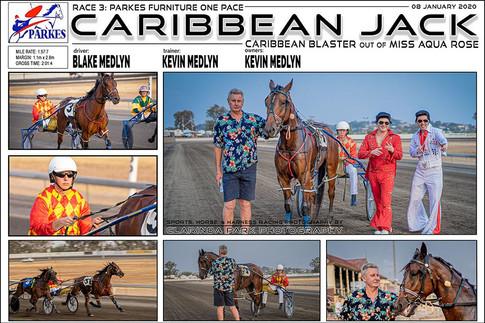 PARKES HARNESS - Race 3 - PARKES FURNITURE ONE PACE - CARIBBEAN JACK  wins at Parkes Trots.
