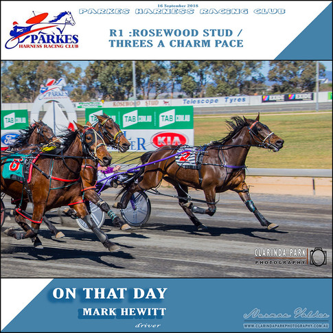 Parkes Harness Winner - R1: Rosewood Stud Threes a Charm Pace
