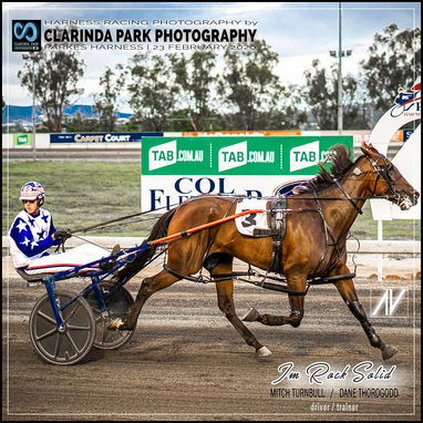 23 February 2020 - Parkes Trots - Im Rock Solid wins the Joe Dumesny Memorial Race 2020 at Parkes Paceway
