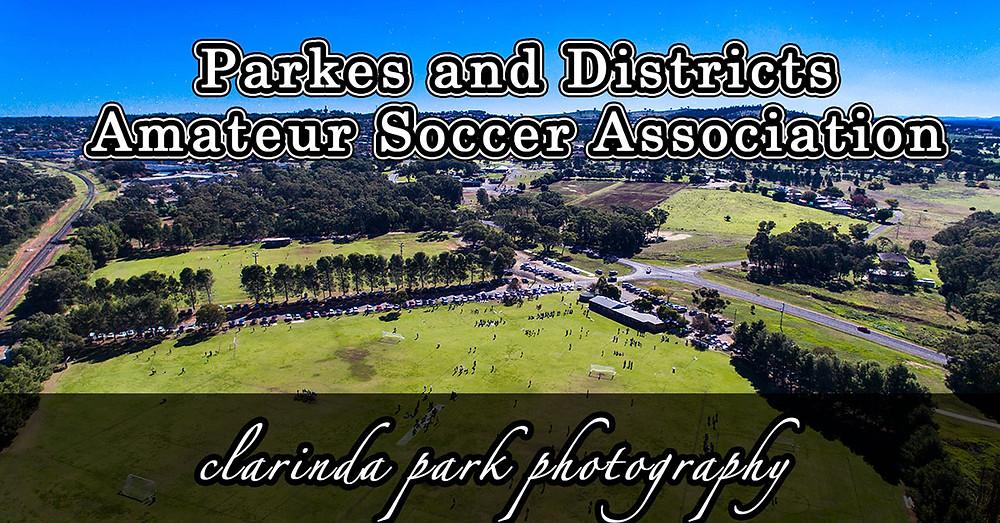 Clarinda Park Photography takes photo for Parkes & District Amateur Soccer Association