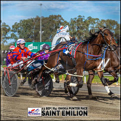 SAINT EMILION, driven by Steve Turnbull, wins at Parkes Harness