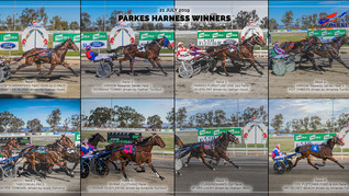 Congratulations to PARKES HARNESS Racing Club Race Meeting Winners - 21 JULY 2019