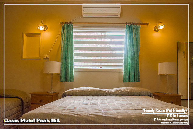Oasis Motel Peak Hill - Family Room Pet Friendly 007