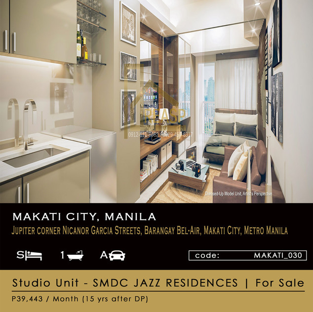 Studio Unit for sale at SMDC Jass Residences in Makati City Metro Manila Philippines