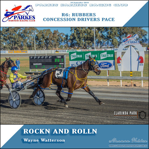 Parkes Harness Winner  - R6: Rubbers Concession Drivers Pace