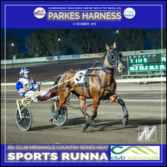 PARKES HARNESS - Race 6 - CLUB MENANGLE COUNTRY SERIES HEAT - SPORT RUNNA wins at Parkes Trots