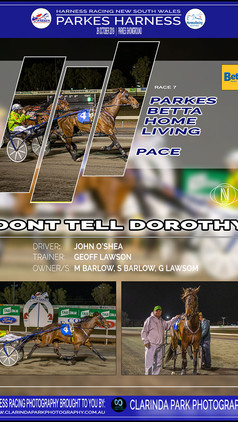 DONT TELL DOROTHY wins at Parkes Harness Trots