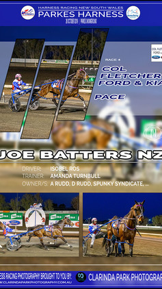 JOE BATTERS NZ wins at Parkes Harness Trots