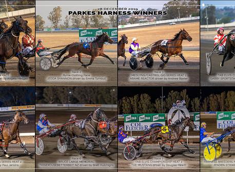 Congratulations to PARKES HARNESS Racing Club Race Meeting Winners - 28 DECEMBER 2019