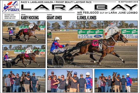 Lara Bay wins at Parkes Harness Trots