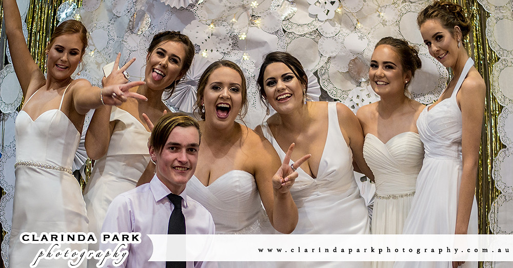 Some Debutantes of Red Bend Catholic College during their Ball at Parkes Leagues Club. Event Photography by Clarinda Park Photography.