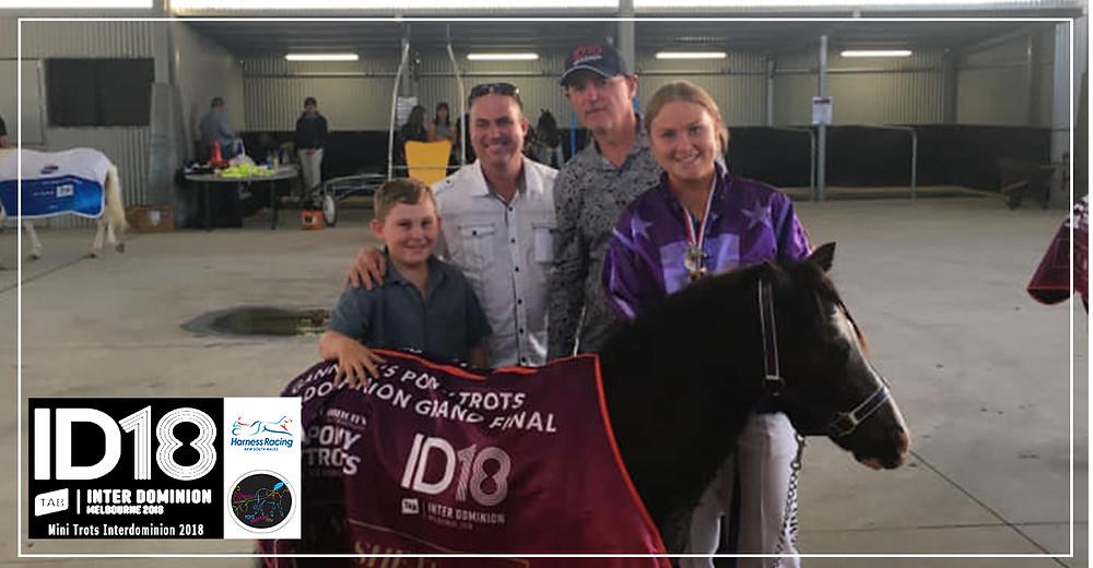 Mini Trots Inter Dominion 2018 (ID18) Shetland Division winner, Secret Mission driven by Jemma Howard Coney