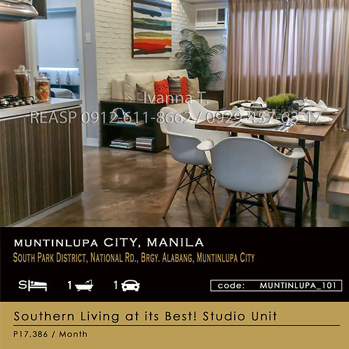Studio Unit for sale - Avida Towers Altura - Alabang Muntinlupa City