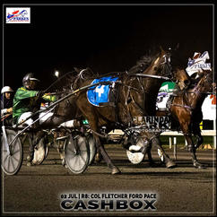 CASHBOX, driven by Michael Jnr Day, won at the Parkes Trots