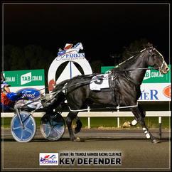 KEY DEFENDER  wins at the Parkes Trots