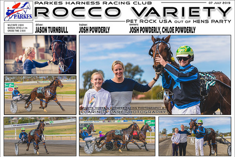 Rocco Variety wins at Parkes Harness Racing Club | 07 July 2019