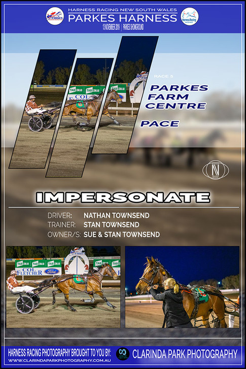 IMPERSONATE wins at Parkes Harness
