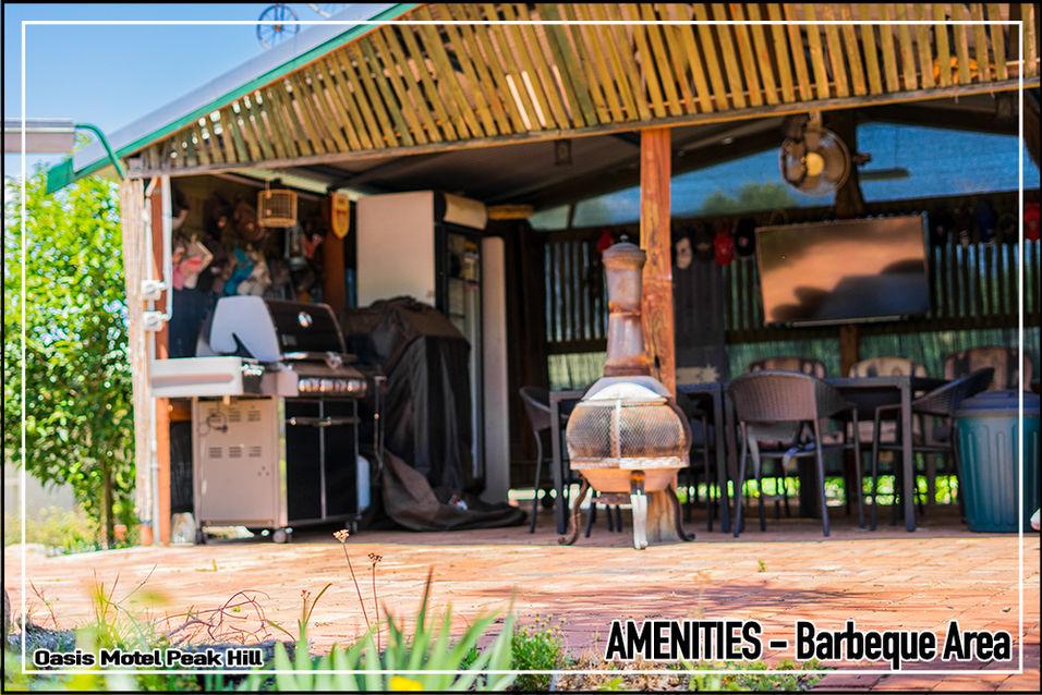 Oasis Motel Peak Hill amenities include barbeque area 003