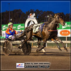 CARRAMAR TIMES UP  wins at the Parkes Trots