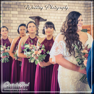 Brittany and Tim Wedding Photos: Bride and the Bridesmaid at the Church