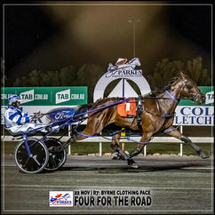 FOUR FOR THE ROAD, driven by Olivia Frisby, , wins at Parkes Harness