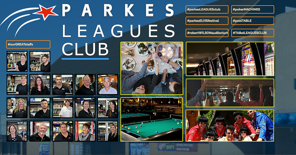 PARKES LEAGUES CLUB. New website designed and developed by Clarinda Park IT