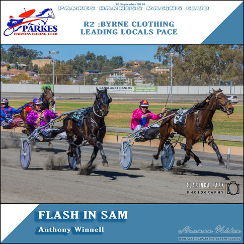 Parkes Harness Winner - R2: Byrne Clothing Leading Locals Pace