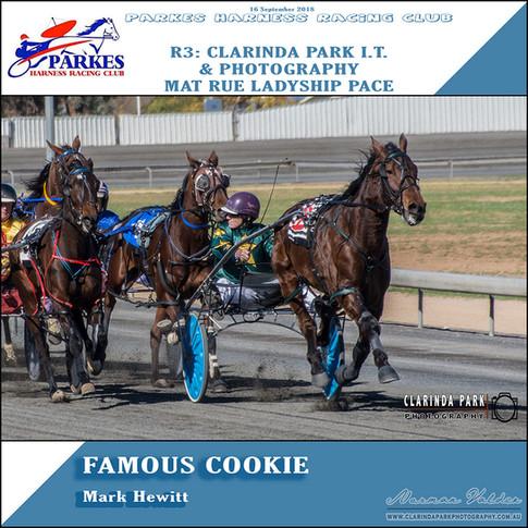 Parkes Harness Winner - R3: Clarinda Park IT Mat Rue Ladyship Pace
