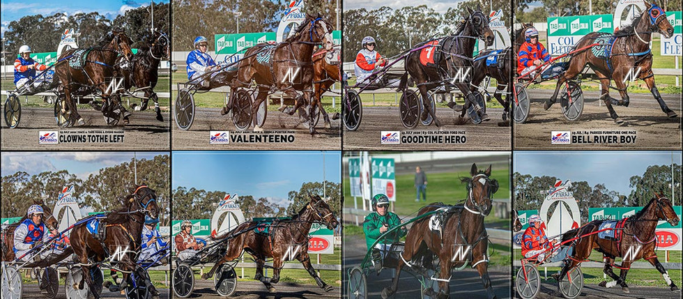 Congratulations to PARKES HARNESS Racing Club Race Meeting Winners - 19 JULY 2020