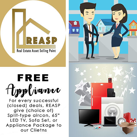 Real Estate Asset Selling Point Free Appliance Promotion for successful deals