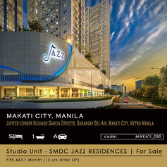 Studio Unit for Sale at SM JAZZ Residences in Makati City Manila