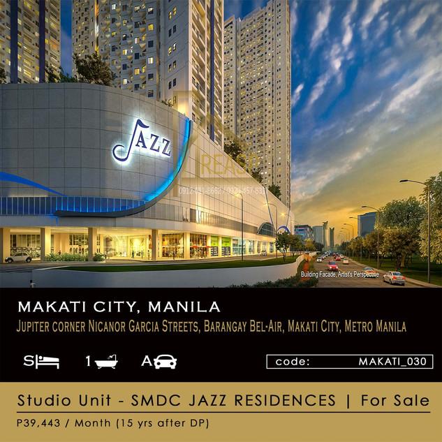 Studio Unit for Sale at SM JAZZ Residences in Makati City Manila
