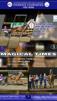 MAGICAL TIMES wins at Parkes Harness Trots