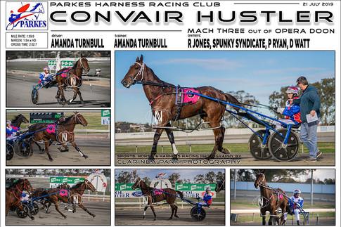 CONVAIR HUSTLER  wins at Parkes Harness Trots