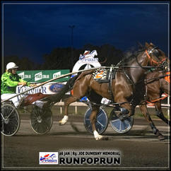 RUNPOPRUN, driven by Laura Rusten, wins at Parkes Trots