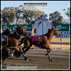 PARKES HARNESS - Race 1 - TAB ODDS & EVENS PACE - NEVERHAVEIEVER wins at Parkes Trots