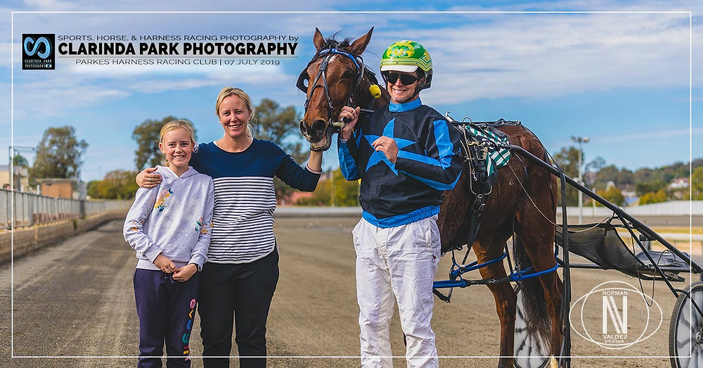 ROCCO VARIETY wins at Parkes Harness Racing Club Race 2: Terry Brothers Carpet Court 3yo Pace last 7th July 2019