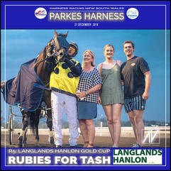 PARKES HARNESS - Race 5 - LANGLANDS HANLON GOLD CUP - RUBIES FOR TASH wins at Parkes Trots